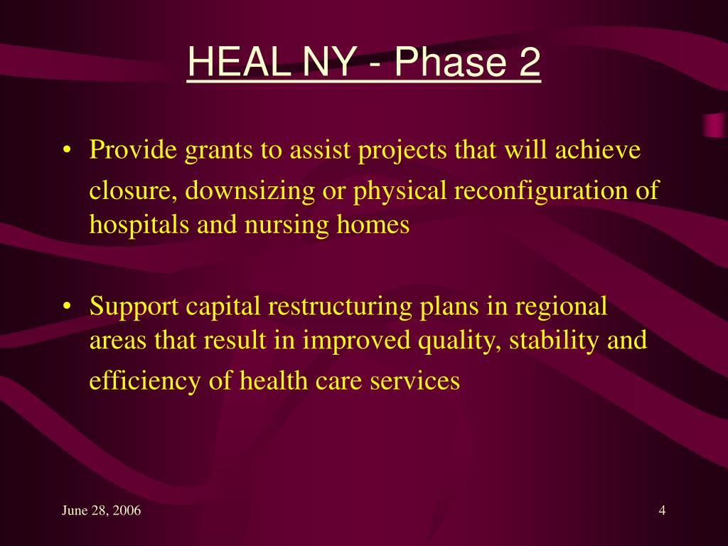 HEAL NY - Phase 2