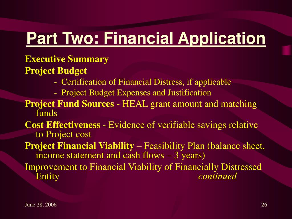 Part Two: Financial Application