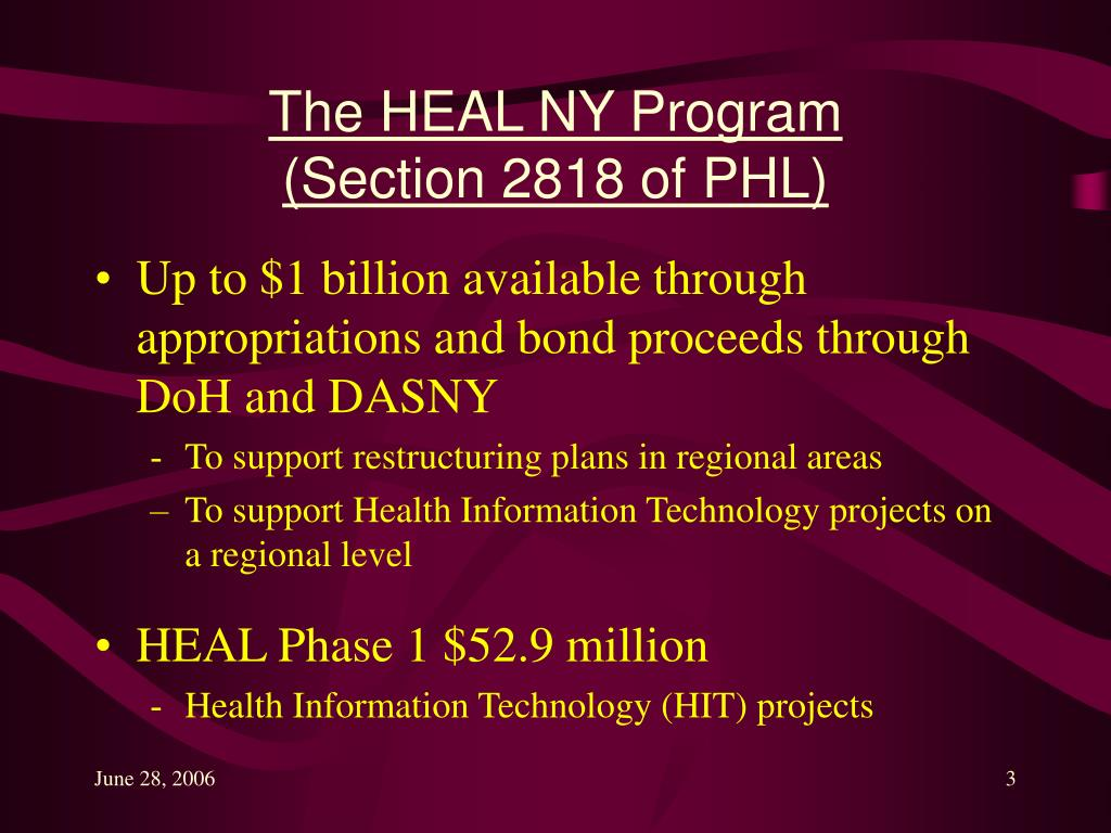 The HEAL NY Program