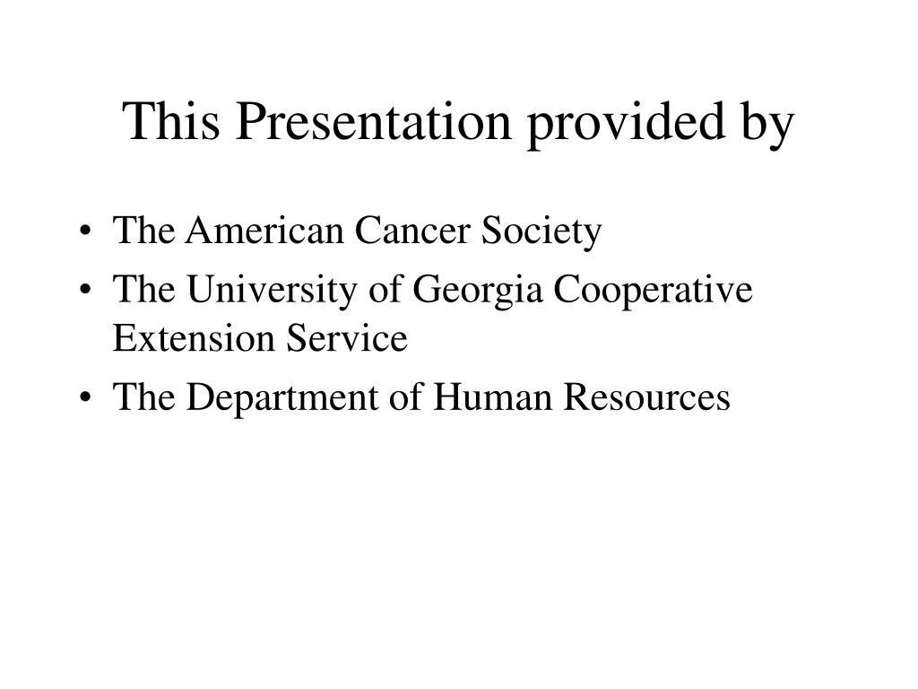 This Presentation provided by