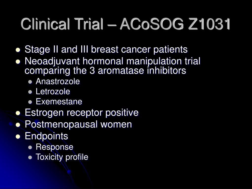 Clinical Trial – ACoSOG Z1031