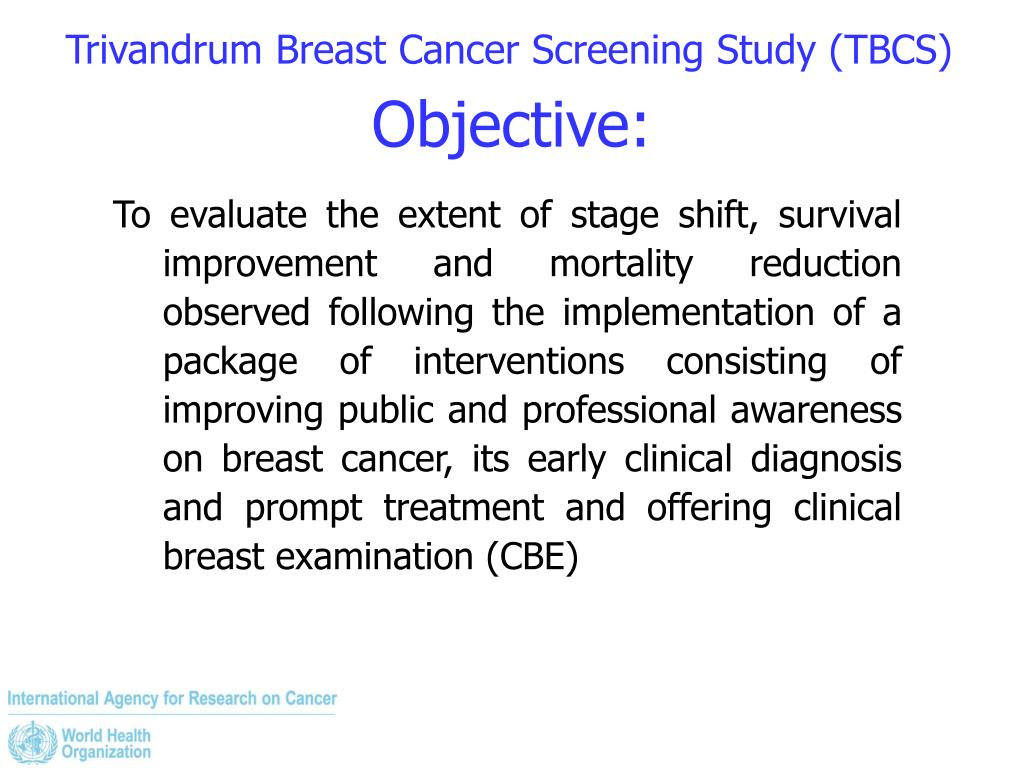 Trivandrum Breast Cancer Screening Study (TBCS)