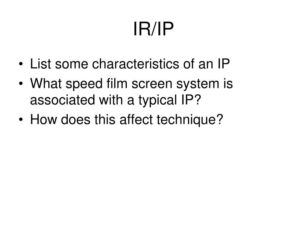 IR/IP