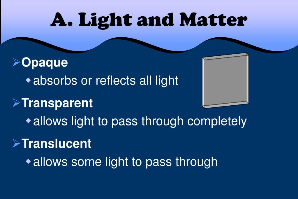 A. Light and Matter
