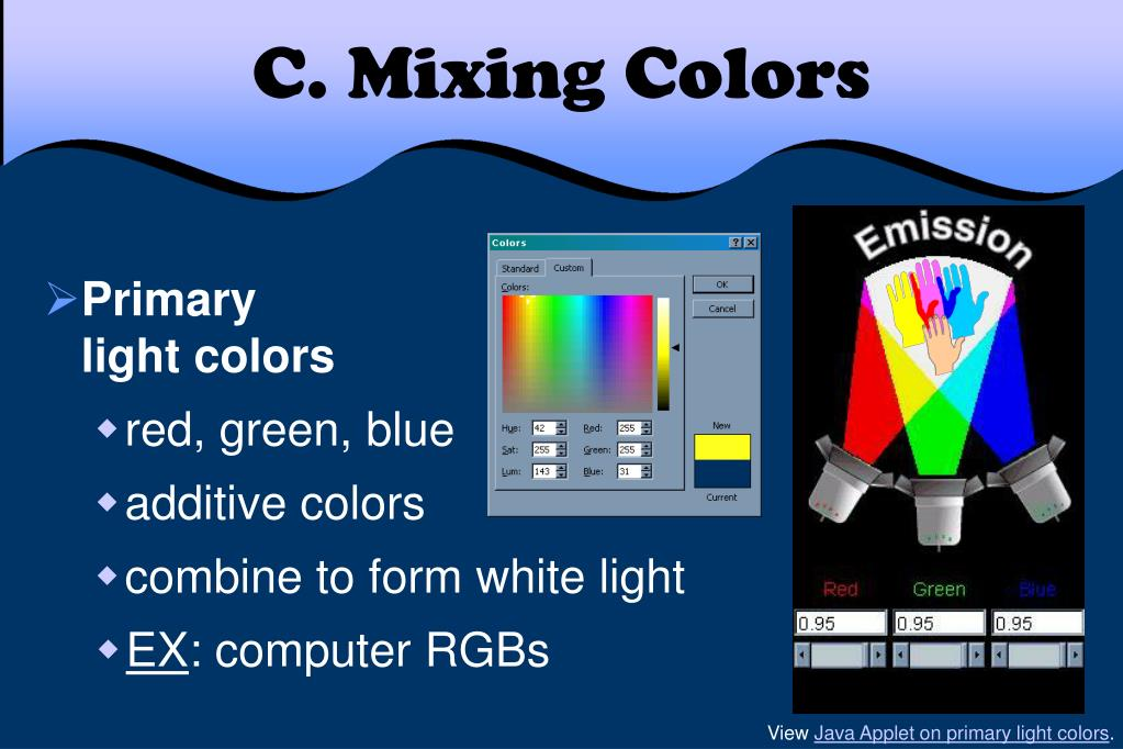 C. Mixing Colors
