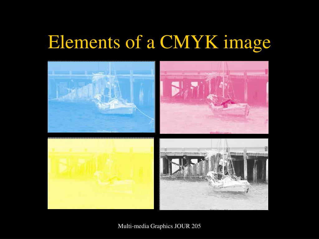 Elements of a CMYK image