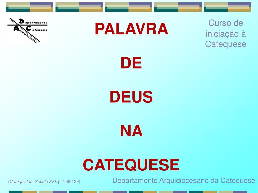 Curso de iniciação à Catequese