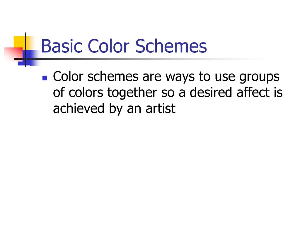 Basic Color Schemes