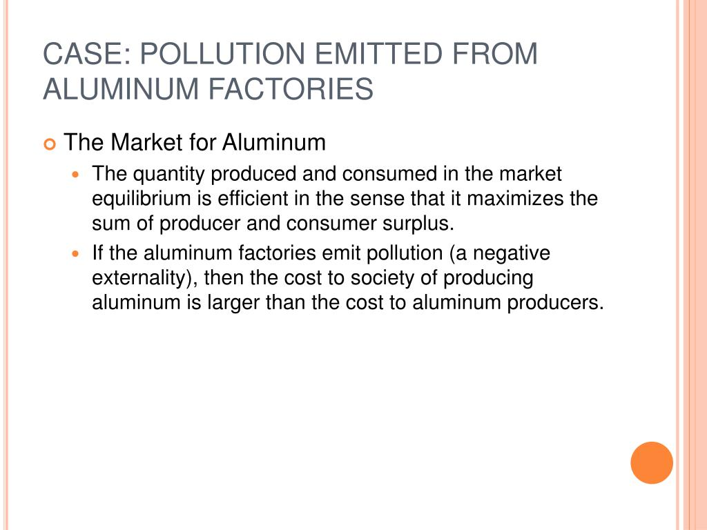 CASE: POLLUTION EMITTED FROM ALUMINUM FACTORIES