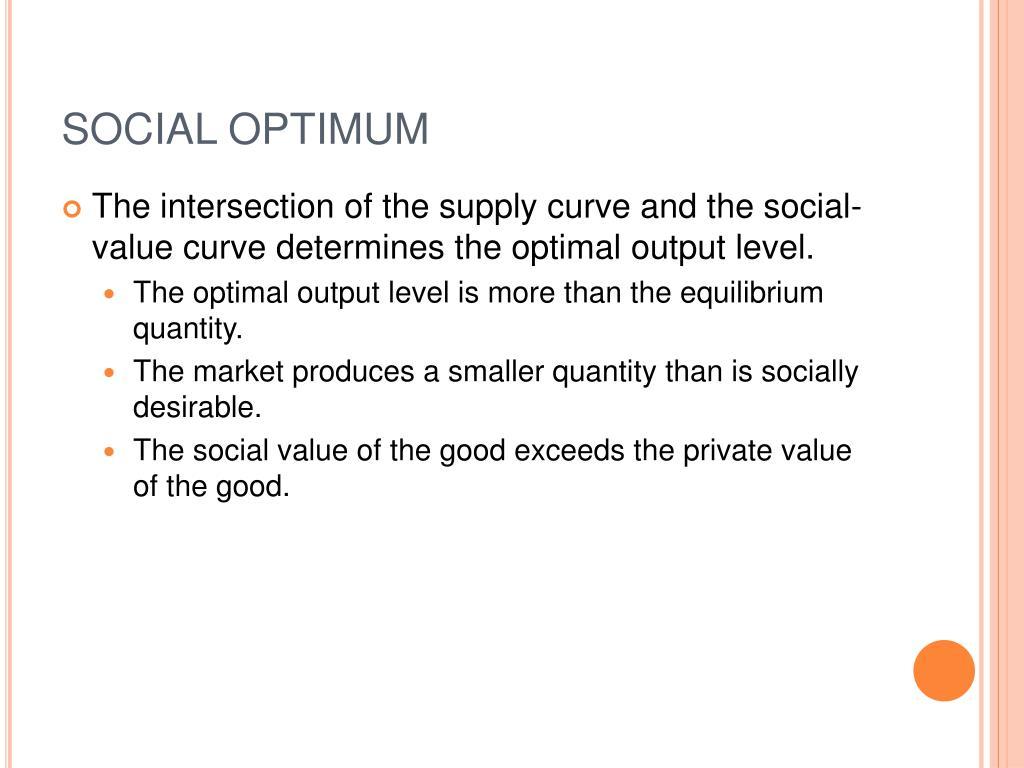 SOCIAL OPTIMUM