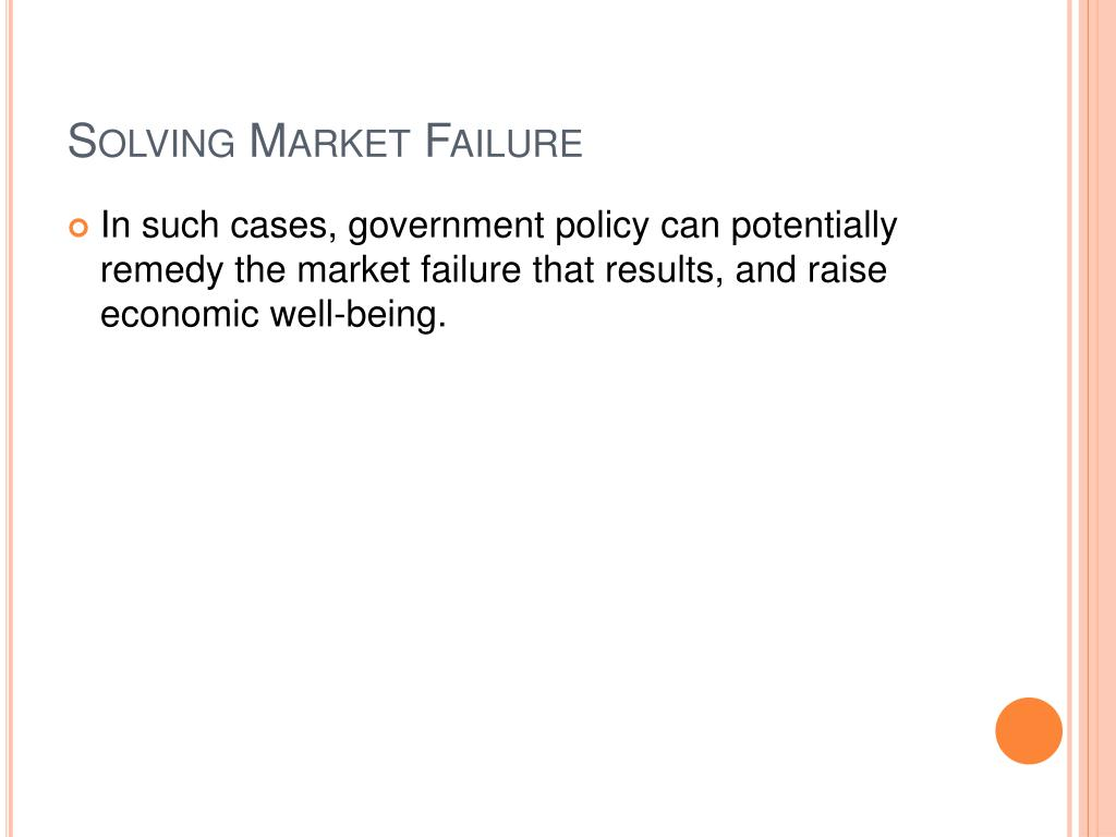 Solving Market Failure