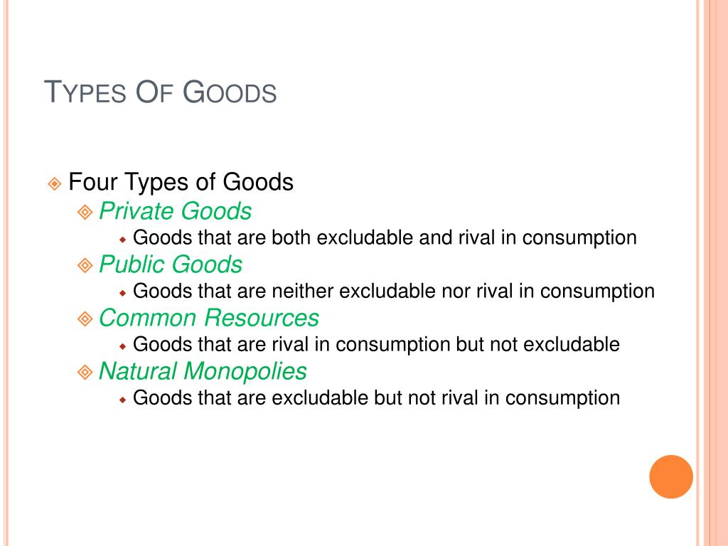 Types Of Goods