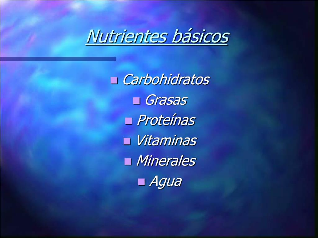 Nutrientes básicos