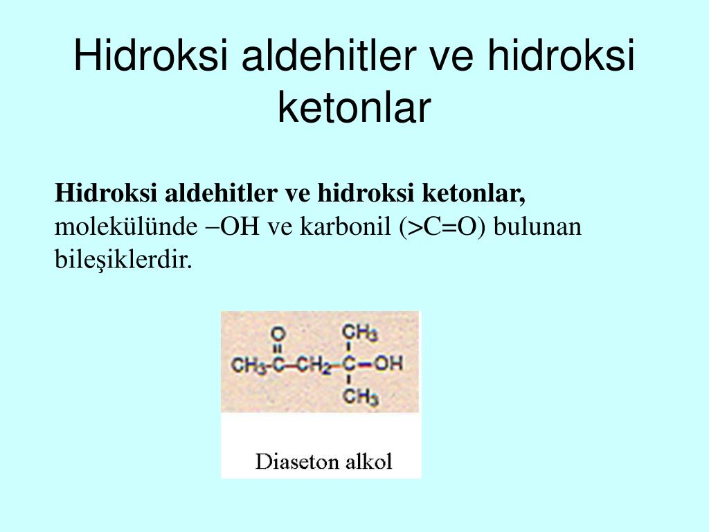 Hidroksi aldehitler ve hidroksi ketonlar
