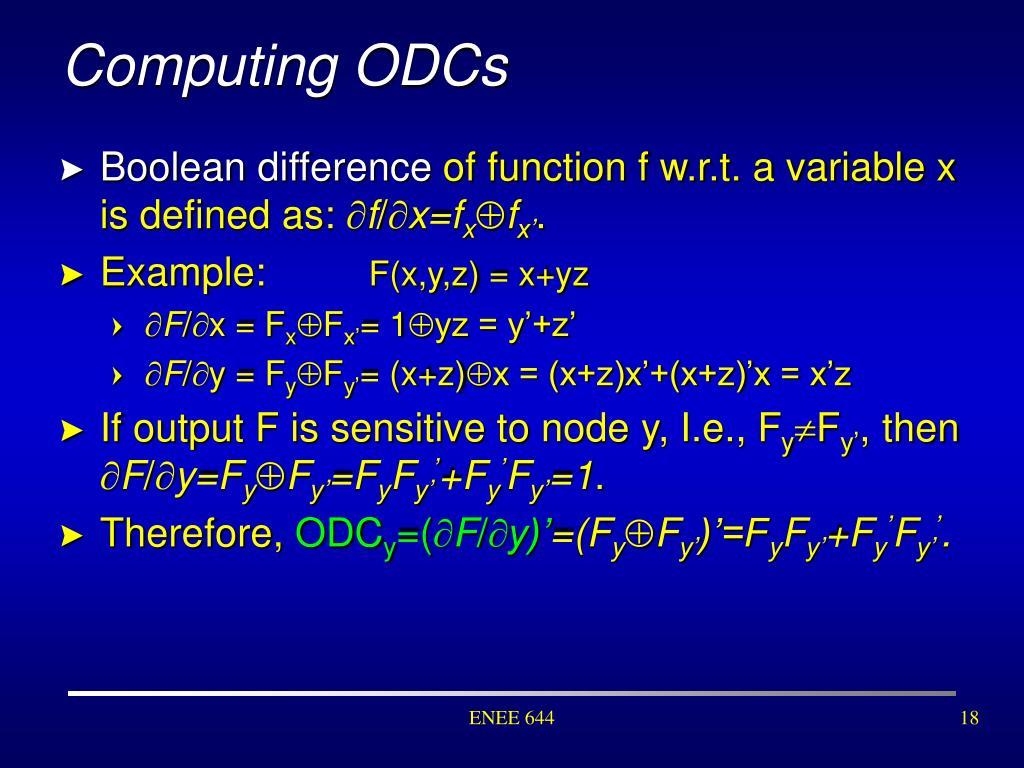 Computing ODCs