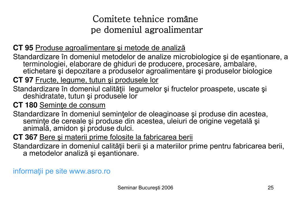 Comitete tehnice române