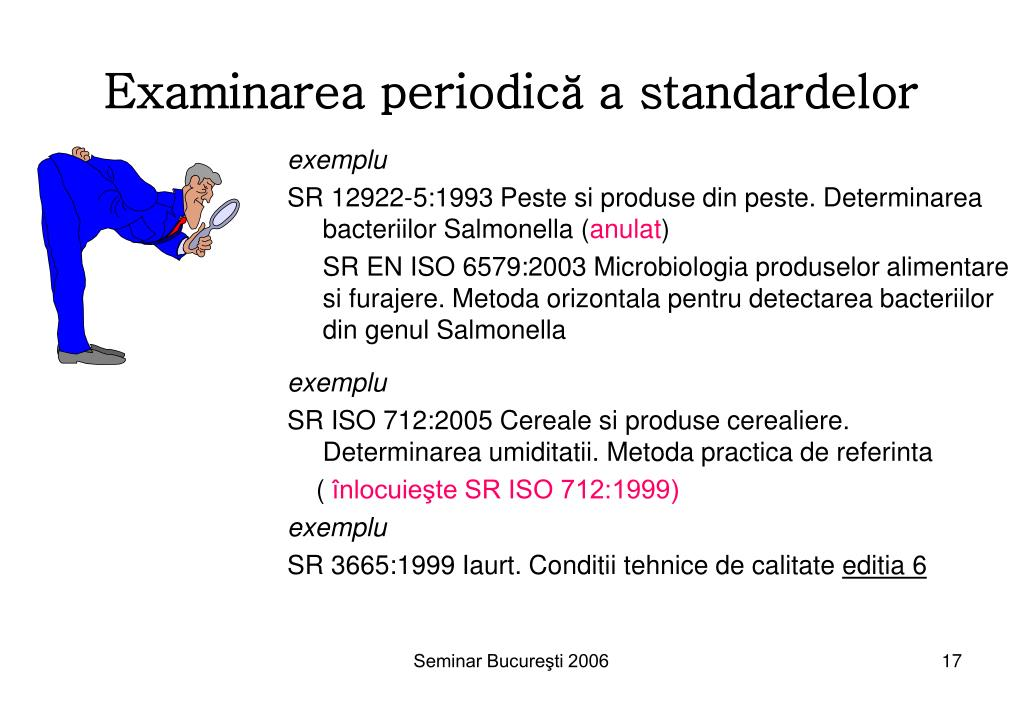Examinarea periodică a standardelor