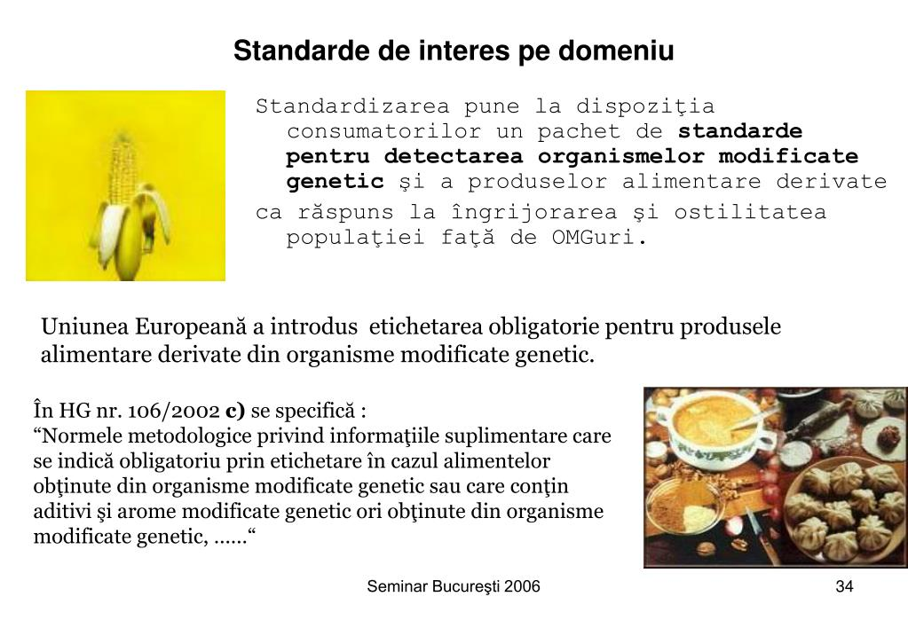 Standarde de interes pe domeniu