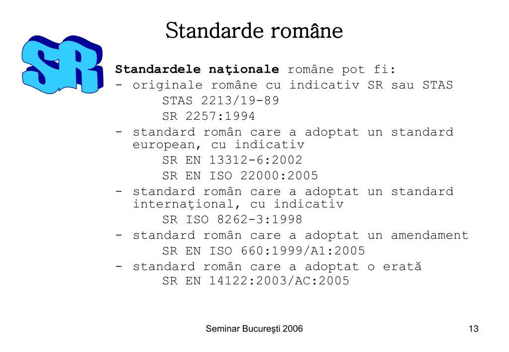 Standarde rom