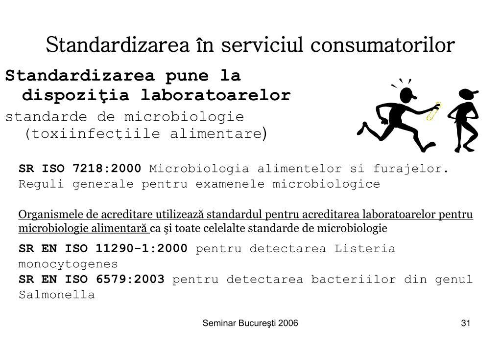 Standardizarea în serviciul consumatorilor