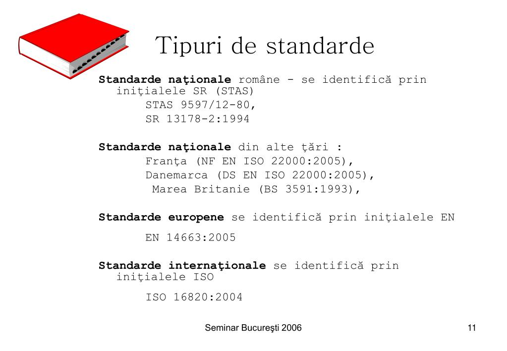 Tipuri de standarde