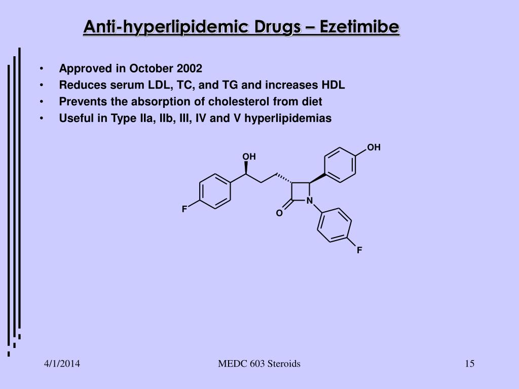 Anti-hyperlipidemic Drugs – Ezetimibe