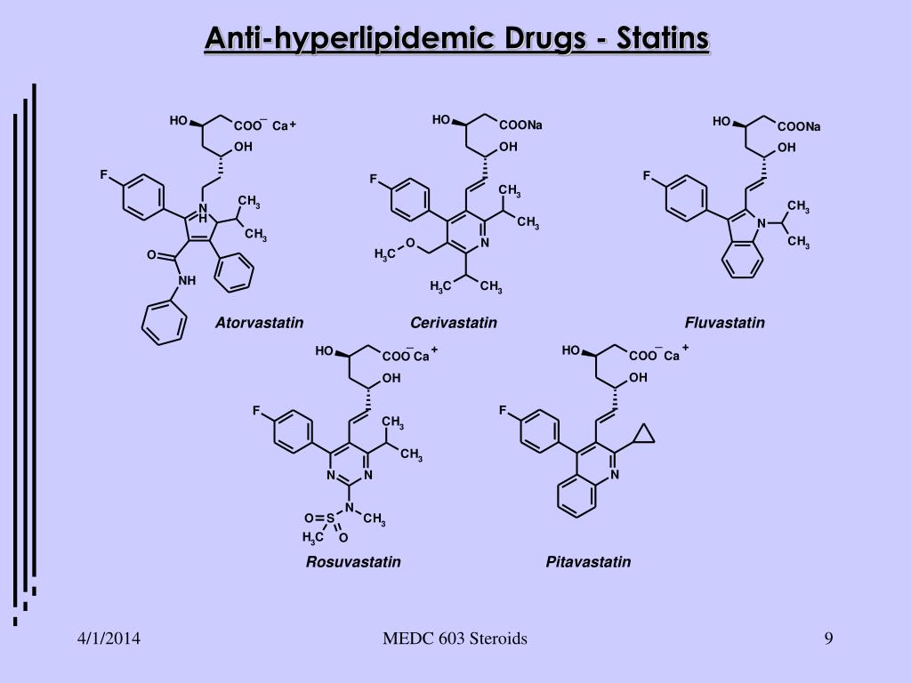 Anti-hyperlipidemic Drugs - Statins