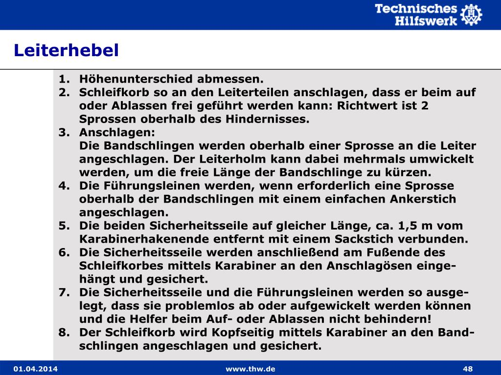 Leiterhebel