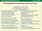 the naphthalene dosimeter advisory group