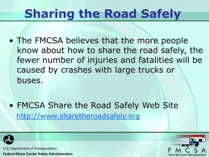 Sharing the road safely1