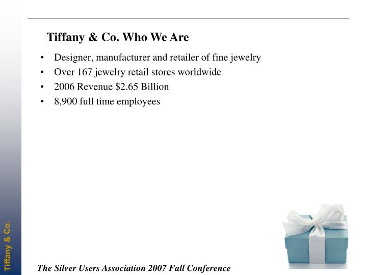 Tiffany & Co. Who We Are