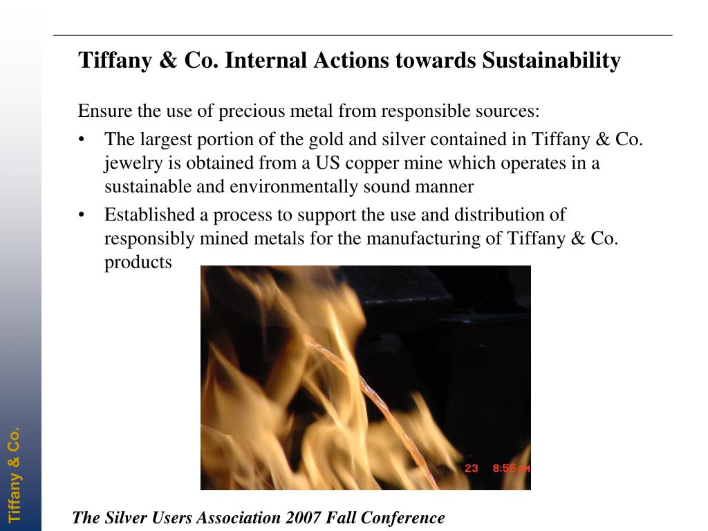 Tiffany & Co. Internal Actions towards Sustainability