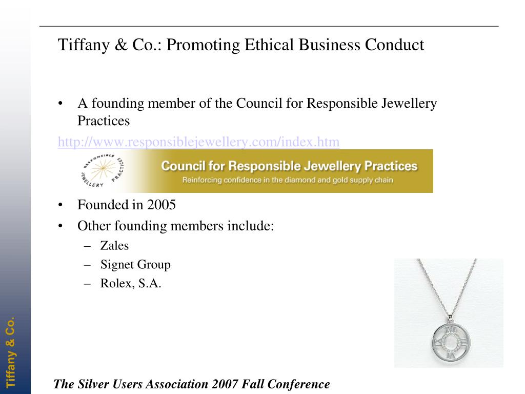Tiffany & Co.: Promoting Ethical Business Conduct