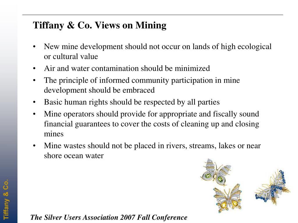 Tiffany & Co. Views on Mining