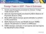 foreign trade in gdp flow of estimates