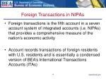 foreign transactions in nipas