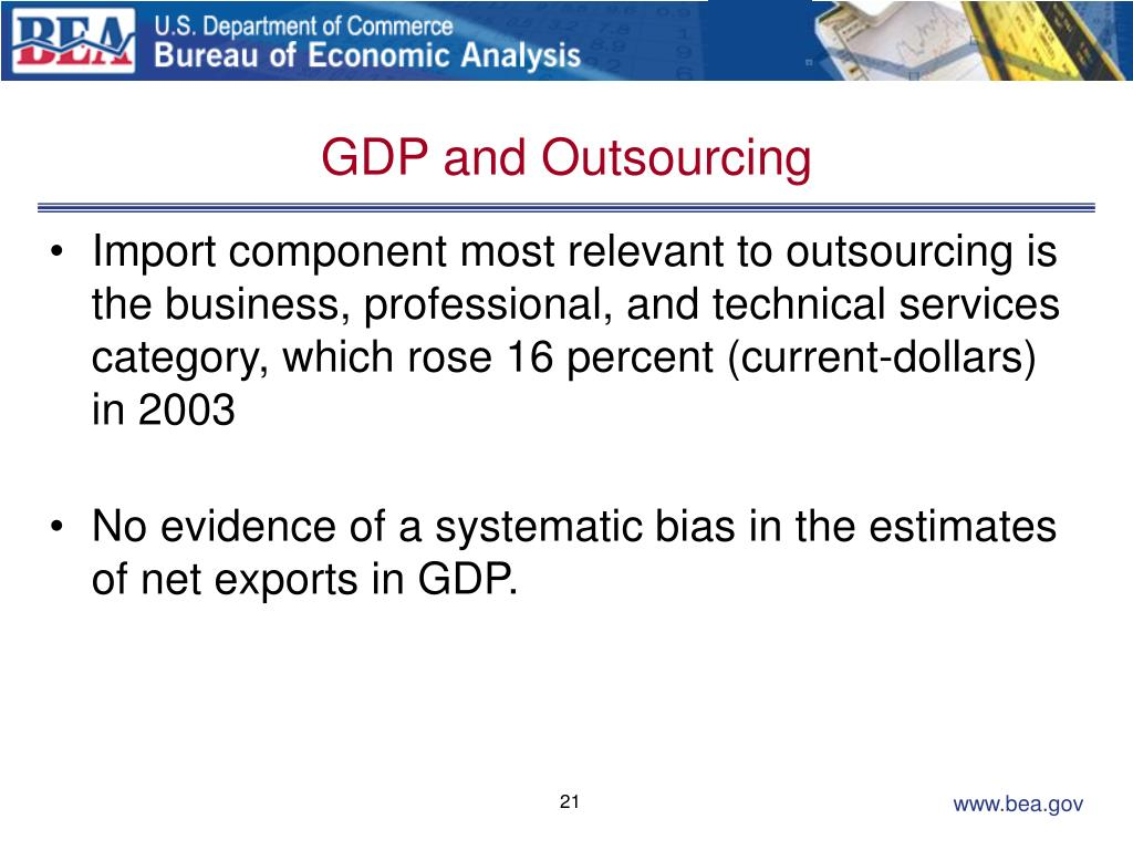 GDP and Outsourcing
