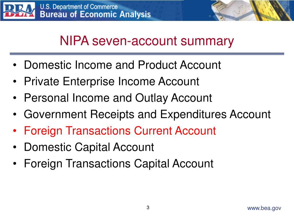 NIPA seven-account summary