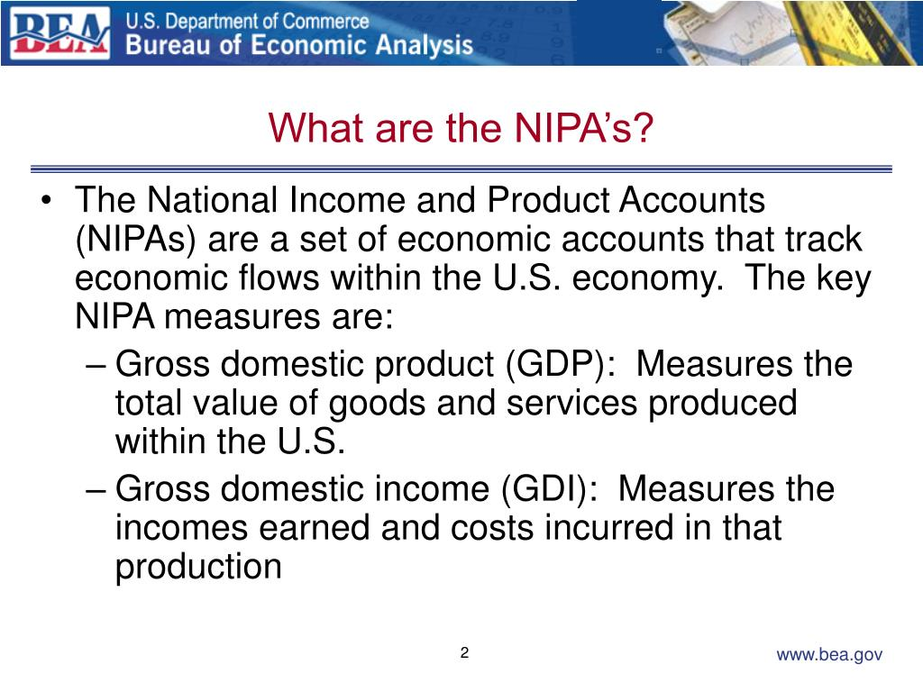 What are the NIPA's?