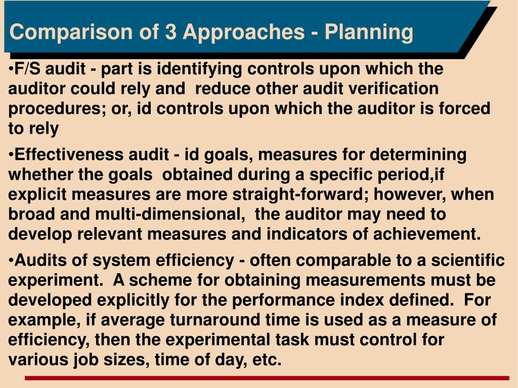 Comparison of 3 Approaches - Planning