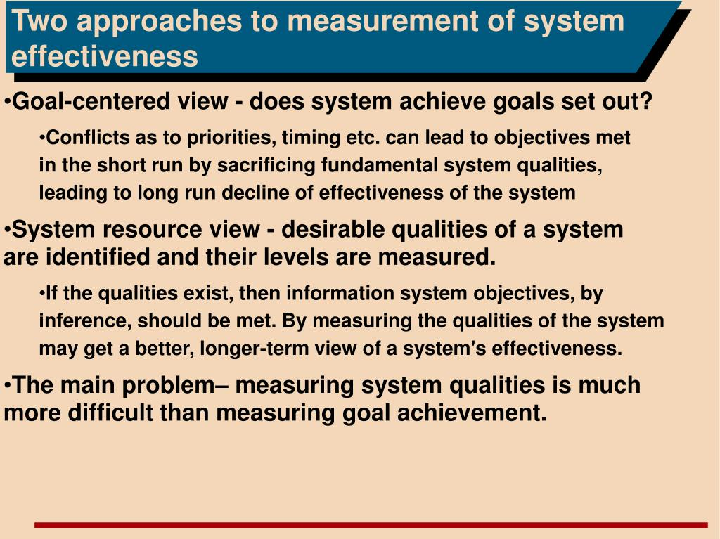 Two approaches to measurement of system