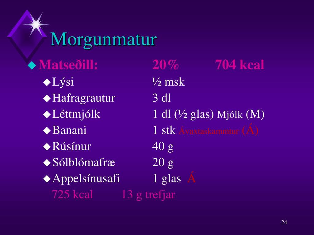 Morgunmatur