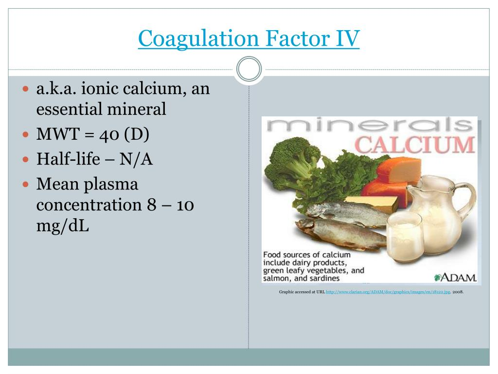 Coagulation Factor IV