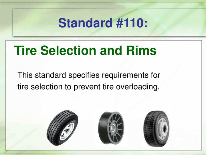 Standard #110: