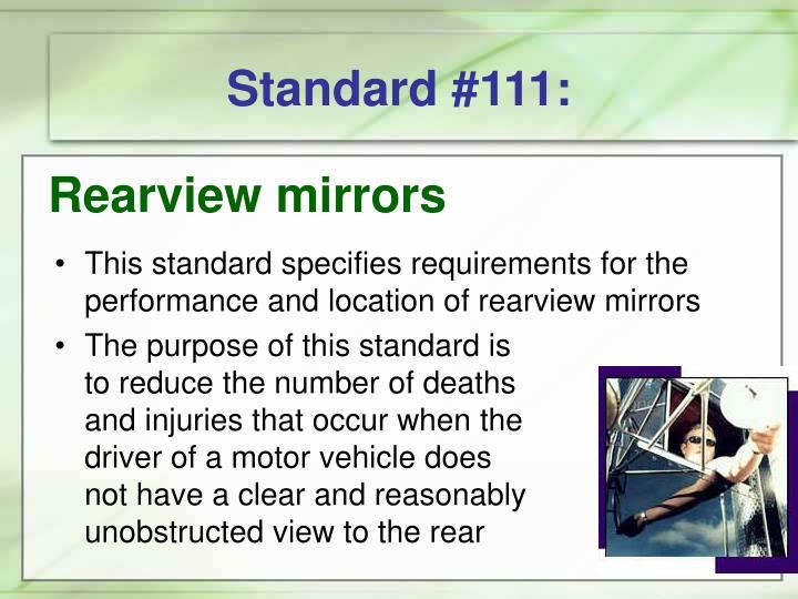 Standard #111:
