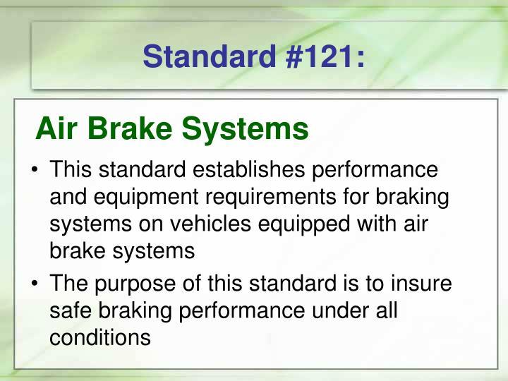 Standard #121: