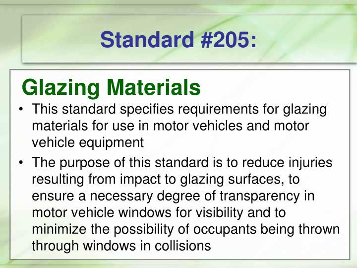 Standard #205: