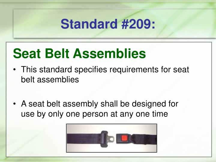 Standard #209: