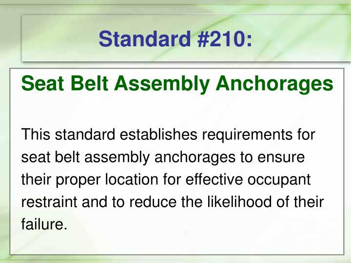 Standard #210: