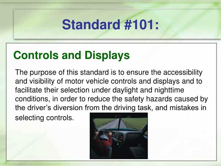 Standard #101: